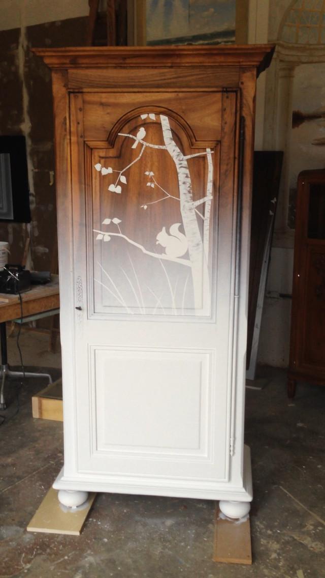 meubles peints atelier yvon ravet. Black Bedroom Furniture Sets. Home Design Ideas
